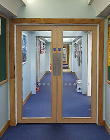 Bespoke Glazed Fire Doors Prestige Fire Door Services